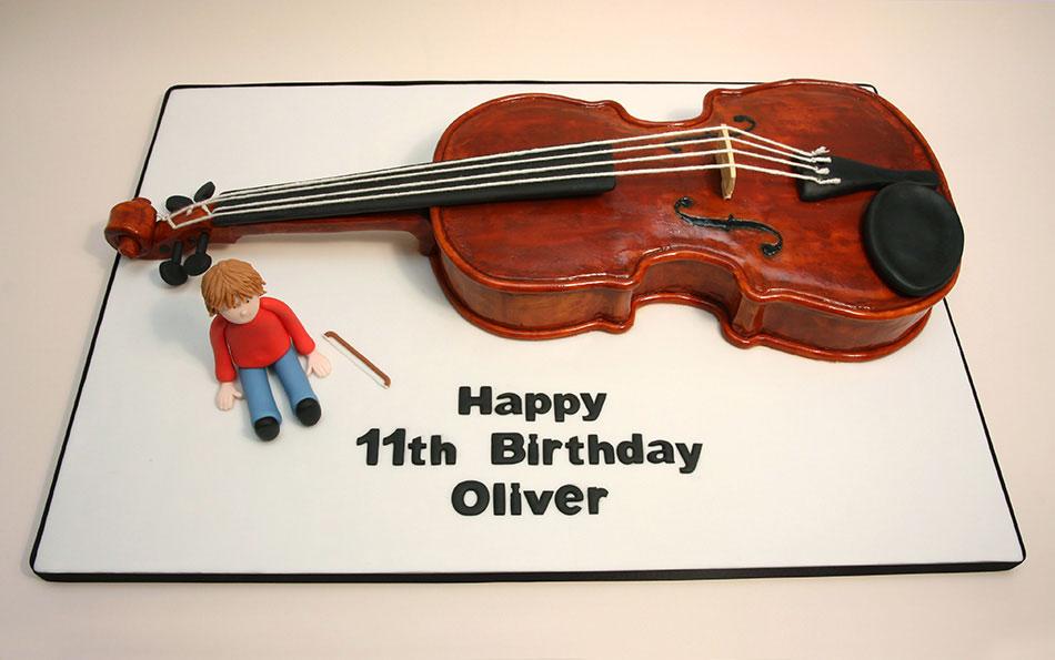 Violin Birthday Cake Images